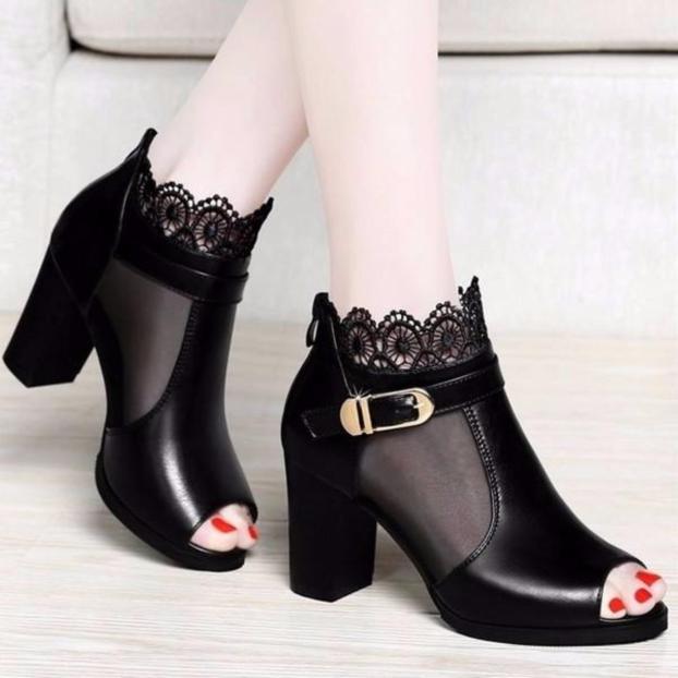 Giày Boot Cổ Lưới Hoa - MS:B421 giá rẻ