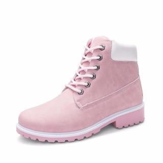 Giày Boot Nữ Lidus HH1823. Bảo hành 12 tháng. (Màu hồng) thumbnail