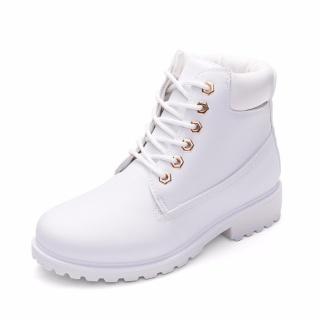 Giày Boot Nữ Lidus HH1823. Bảo hành 12 tháng. (Màu trắng) thumbnail