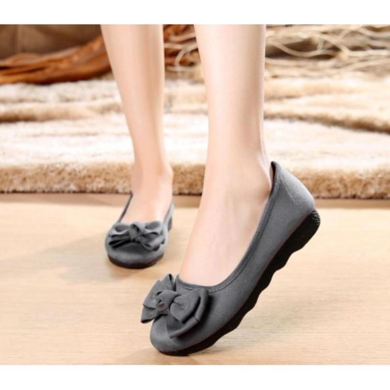 Giày búp bê gắn nơ điệu dà dành cho nữ giá rẻ