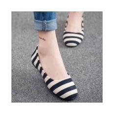 Giày búp bê MYS sọc
