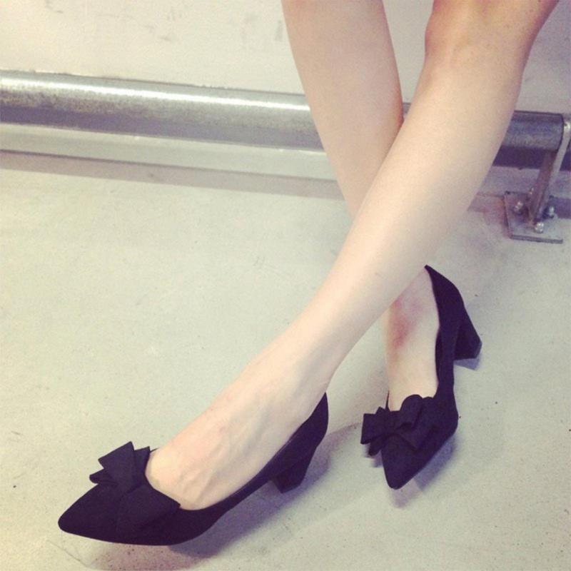 Giày cao gót mũi nhọn nơ 3 tầng Dolly & Polly