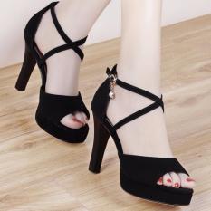 Giày cao gót quai đan chéo nhỏ - Mã số: CG51
