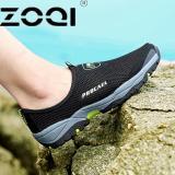 Giày đi bộ chuồn trượt ZOQI cho nam (Màu đen).-intl