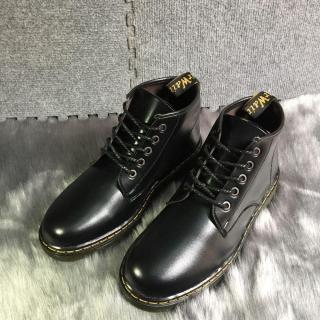 Giày Dr Cổ Lửng Da Bóng ( Đen ) thumbnail