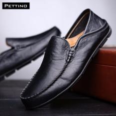 Chiết Khấu Giay Lười Nam Cao Cấp Pettino Gl01 Đen Pettino Hà Nội