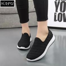 Giày lười nữ lưới thoáng khí, đế chống trơn HAPU -SL001 (đen)