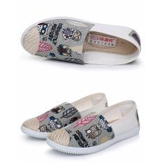 Giày lười slip on vintage xám