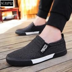Hình ảnh Giày lười vải nam thời trang và lịch lãm Fashion - HAPU - LFS001 (đen)