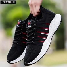 Hình ảnh Giày nam sneaker cao cấp - Pettino P003 (đen)