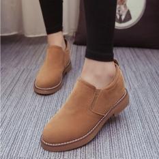 Giày Oxford nữ da lộn ôm chân MSP 2727 (Nâu)