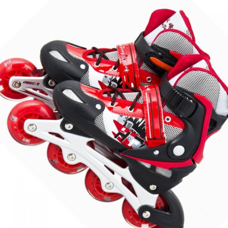 Phân phối Giày Patin Long Feng 906 Đỏ đen chỉnh size S( 31 -34) , size M(34 đến 39) , size L(39 đến 42)