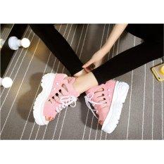 Giày sandal nữ nâng đế cao 11cm phong cách Hàn Quốc S037H (Hồng)