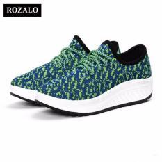 Ôn Tập Giay Sneaker Đế Cao Nữ Rozalo Rwg2708X Xanh Trong Hà Nội