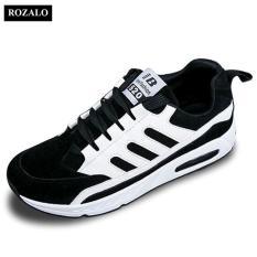 Mua Giay Sneaker Đế Phẳng Day Buộc Thời Trang Nữ Rozalo Rwg4502Bw Trắng Đen Hà Nội