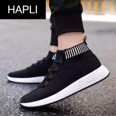 Chiết Khấu Giay Sneaker Nam Cỏ Chun Hapli Newnmd02 Đen Đé Đen Hapli Hà Nội