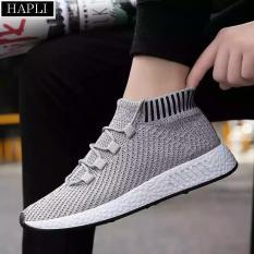 Ôn Tập Giay Sneaker Nam Cỏ Chun Hot Nhát Năm Hapli Newnmd02 Xám