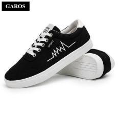 Giá Bán Giay Sneaker Vải Nam Day Buộc Garos Gmg3901 Nguyên