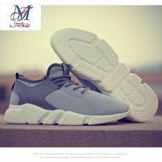 Giá Bán Giay Sneaker Nam Phom To Sieu Cấp Vip Running Sport Thời Trang Nam He 2017 Timashop26 Xam Nguyên