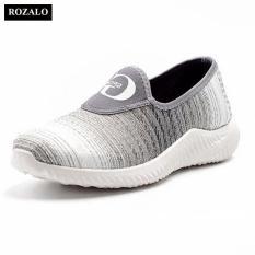 Giá Bán Giay Sneaker Nam Thời Trang Chất Vải Đan Hồi Rozalo Rm32915G Xam Trực Tuyến