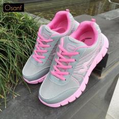 Giá Bán Giay Sneaker Nữ Ca Tinh Osant Sn006 Xam Phối Hồng Osant Nguyên