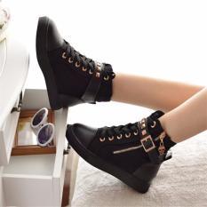 Hình ảnh Giày sneaker nữ cổ cao nạm kim loại 3Fashion - MSP 2109