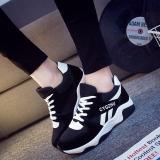Giá Bán Giay Sneaker Nữ D2581 Phối Mau Đen Trắng Rẻ