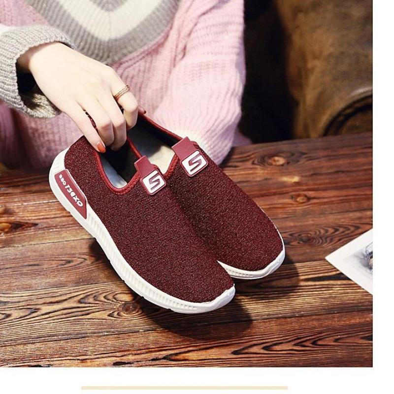 Giày Sneaker Nữ Mẫu Mới Siêu Hot YAMET SN-35342 Màu Đỏ Đô