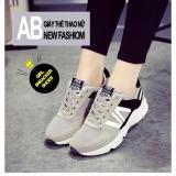 Ôn Tập Tốt Nhất Giay Sneaker Nữ Năng Động D2595 Mau Xam
