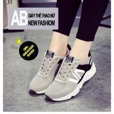Giá Bán Giay Sneaker Nữ Năng Động D2595 Mau Xam Trực Tuyến