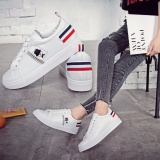 Mua Giay Sneaker Nữ Phong Cach Han Quốc Trắng Phối Đen Size 37 38 Mới