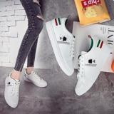 Ôn Tập Trên Giay Sneaker Nữ Phong Cach Han Quốc Trắng Phối Xanh Size 38 39