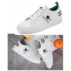Bán Giay Sneaker Nữ Phong Cach Han Quốc Trắng Phối Xanh Size 37 38 Mới