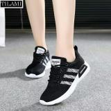 Giá Bán Giay Sneaker Nữ Sọc Cheo Tilami 3Sc01 Đen Đen Sọc Đỏ Có Thương Hiệu