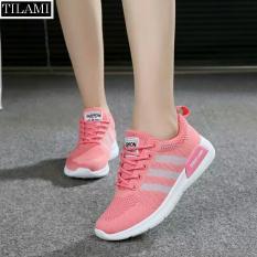 Hình ảnh Giày Sneaker nữ sọc chéo Tilami - 3SC02 (Hồng)