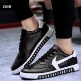 Cửa Hàng Giay Sneaker Thể Thao Nam Kiểu Day Buộc Zani Zn4129Bw Đen Trắng Rẻ Nhất