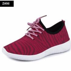 Ôn Tập Trên Giay Sneaker Thể Thao Nữ Zani Zn4207R Đỏ