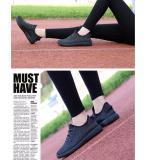 Chiết Khấu Giay Sneaker Theu Tay Sports Running Thể Thao Ngoai Trời Thời Trang Trẻ Nữ 2017 Đen Oem