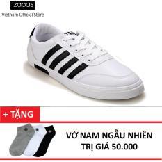Giày Sneaker Thời Trang Nam Zapas Gs033 Trắng Vớ Nam Zapas Chiết Khấu 30