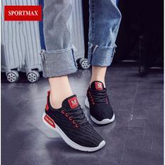 Giá Bán Giay Sneaker Thời Trang Thể Thao Nữ Sportmax Sw42301B Đen