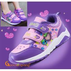 Giá bán Giày thể thao bé gái giày bé gái kiểu thể thao công chúa dâu tây GLG028-Purple