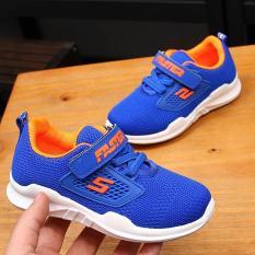 Hình ảnh Giày thể thao siêu nhẹ cho bé - Size 26 đến 31 - Faster - blue lót cam