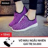 Giay Thời Trang Sneaker Nữ Rozalo Rw905626Vbl Tim Đen Tặng 1 Đoi Tất Vớ Rozalo Chiết Khấu 50