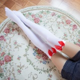 Girl Stretchy Meias Over The Knee High Socks Stockings Tights With Bows Thigh Red Type:1 - intl