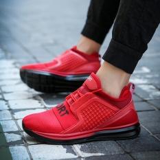 Hengsong Cặp Đôi Giày Lưới Phong Trào Chạy Bộ Giải Trí Thoáng Khí Vải Lưới Thể Thao (Màu Đỏ)-intl