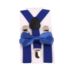 Giá bán HengSong Unisex Trẻ em Dây Thắt Nơ Y-lưng Quần Kẹp Có Thể Điều Chỉnh Dây Đai Co Giãn Suspender Dây Nẹp Hoàng Gia màu xanh-quốc tế