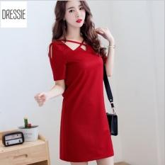 Giá Bán Hinh Thật Vay Đầm Suong Chữ A Đẹp Đơn Giản Dressie Ds0248 Đỏ Nguyên