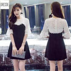 Hình ảnh [HÌNH THẬT] Váy Đầm Dự Tiệc Cưới Sang Trọng Đẹp Sexy DRESSIE - DX0165 (Đen Trắng)