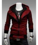 Mã Khuyến Mại Hooded Cotton Plain Long Sleeve Zipper Mens Hoodies Intl Rẻ
