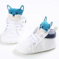 Giá bán Nóng Newborn-18M Bé trai bé gái Mùa Đông Ấm Trơn Dễ Thương Giày Tập Đi Cho Bé Giày Đế Bằng Đế Mềm S1673 -màu trắng-intl